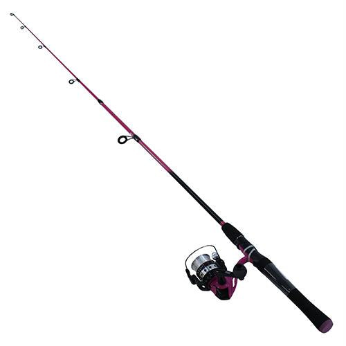 Splash Spinning Combo - Pink, 20sz, 5.3:1 Gear Ratio, 6' Length, 2 Piece Rod, 4-8 lb, Ambidextrous
