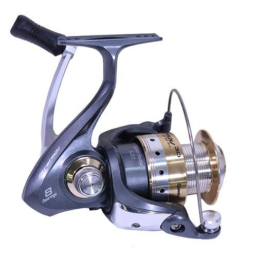 "Strategy Spinning Reel - Size: 30, 5.2:1 Gear Ratio, 32"" Retrieve Rate, 8 Bearings, Ambidextrous, Boxed"