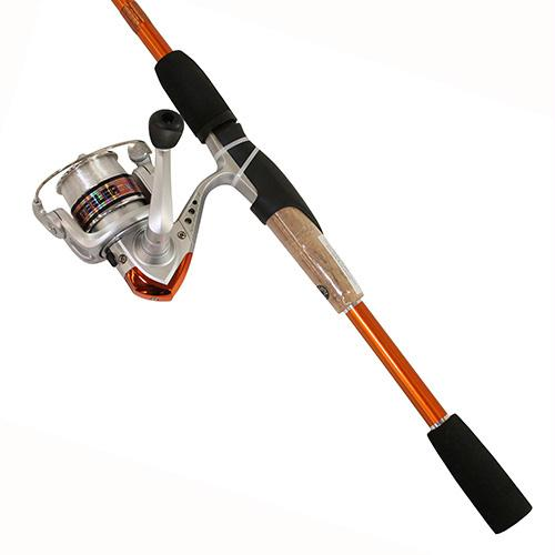 "Steeler XP Spinning Combo - 20 Reel Size, 1BB Bearings, 6'6"" Length, 2 Piece, Medium Power, Orange"
