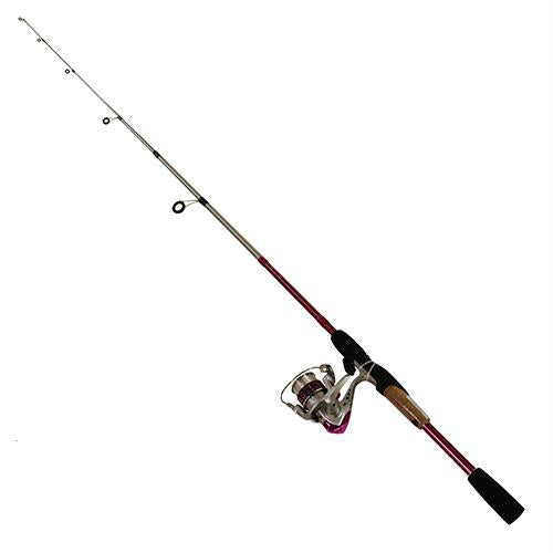 "Steeler XP Spinning Combo - 20 Reel Size, 1BB Bearings, 6'6"" Length, 2 Piece, Medium Power, Pink"