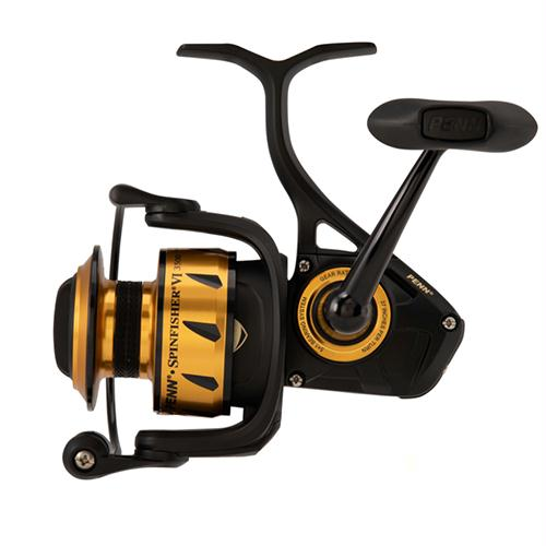 "Spinfisher VI Spinning Saltwater Reel - 4500 Reel Size, 6.2:1 Gear Ratio, 40"" Retrieve Rate, 6 Bearings, Ambidextrous"
