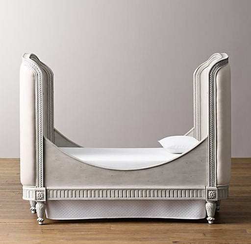 Restoration Hardware Belle Upholstered Toddler Bed