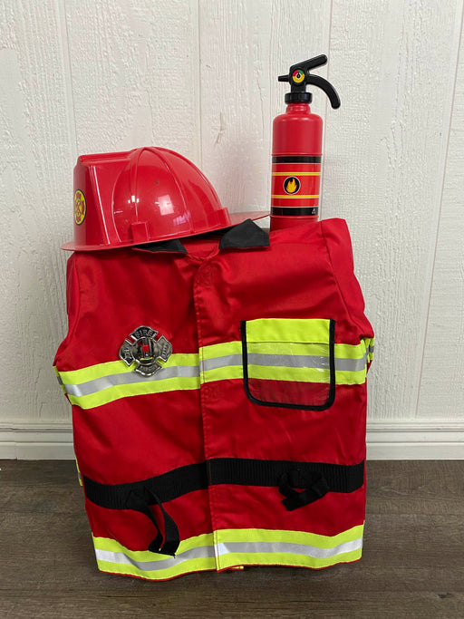 used Melissa & Doug Fire Chief Role Play Costume Set