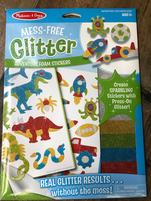 Melissa & Doug Mess Free Glitter Foam Stickers