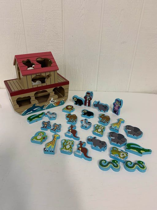 used Melissa & Doug Noah's Ark Wooden Shape Sorter