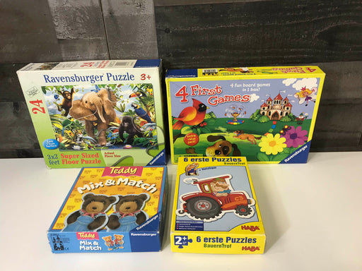 BUNDLE Board Games and puzzles By Ravensburger and Haba