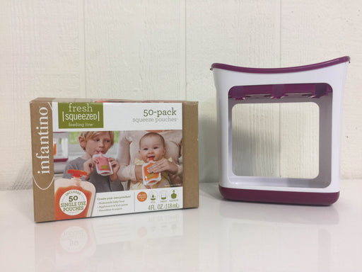 used Infantino Squeeze Station and Accessories