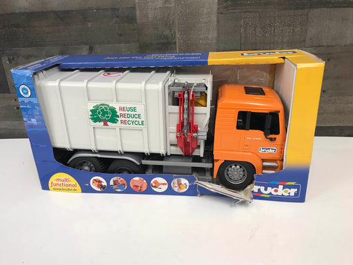 Bruder Toys Man Side Loading Garbage Truck (As Is)