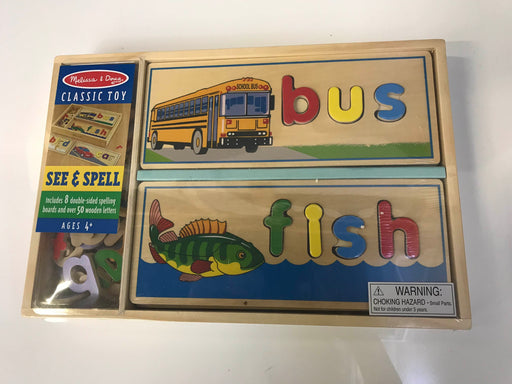 Melissa & Doug See & Spell Wooden Educational Board (Damaged)