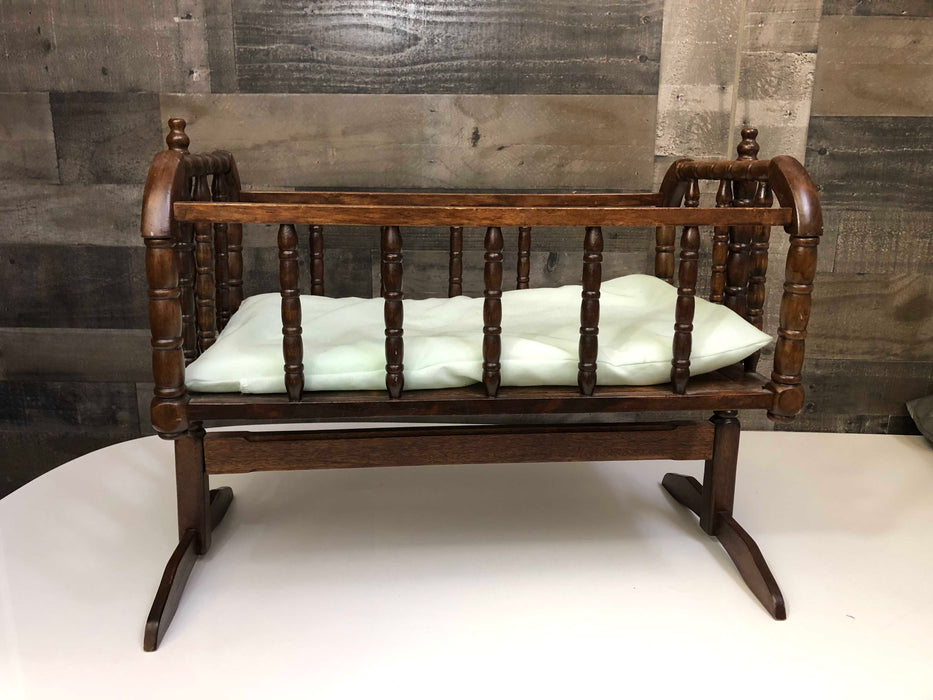 Wooden Doll Crib