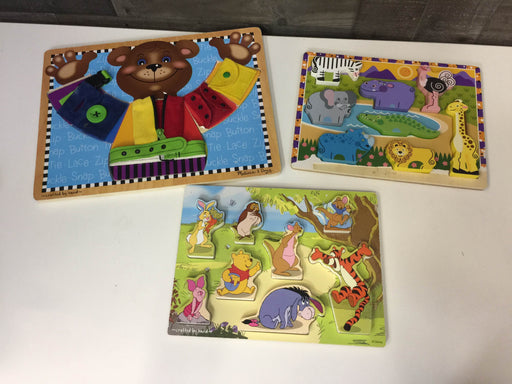 used BUNDLE Toddler-Preschool Puzzles All Wooden