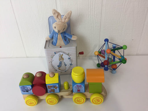 used BUNDLE Wooden Toys With Tin Jack-in-the-Box