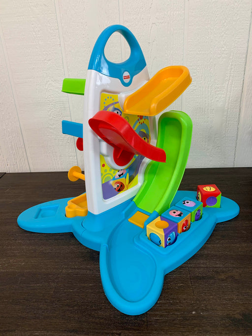 used Fisher Price Roller Blocks Play Wall
