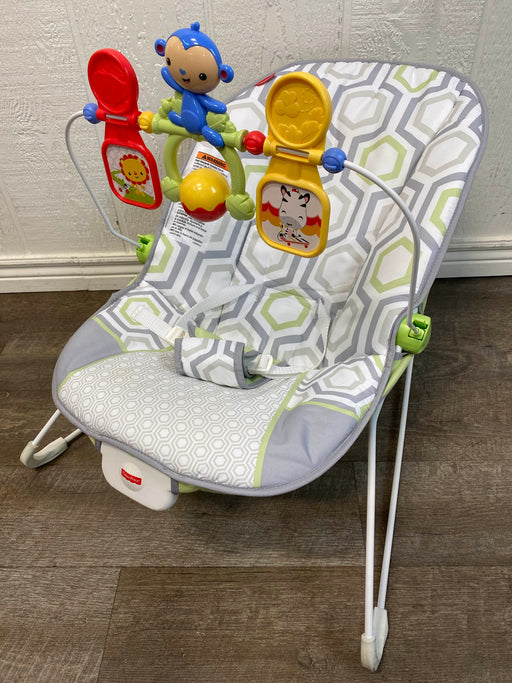 used Fisher Price Baby Bouncer, Geo Meadow