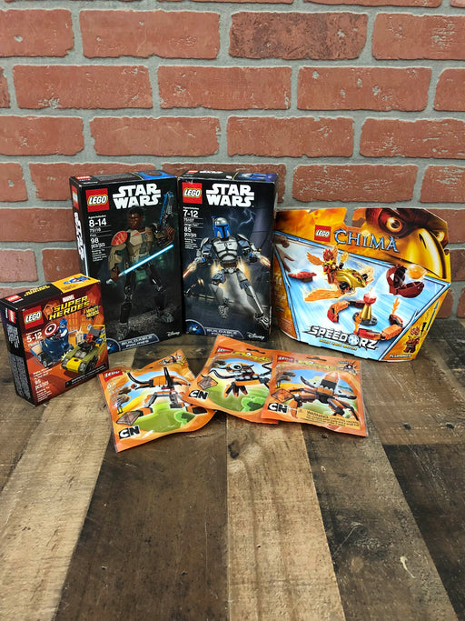 Lego BUNDLE: Lego Sets: Star Wars, Chima, Mixel and Marvel