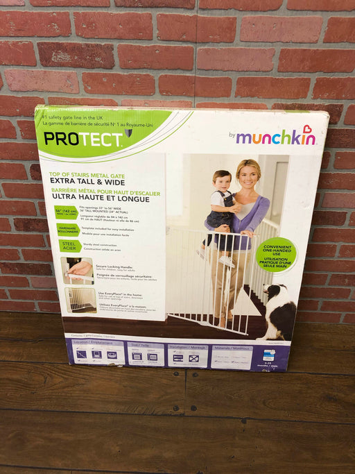Munchkin Top Of Stairs Extra Tall And Wide Metal Gate