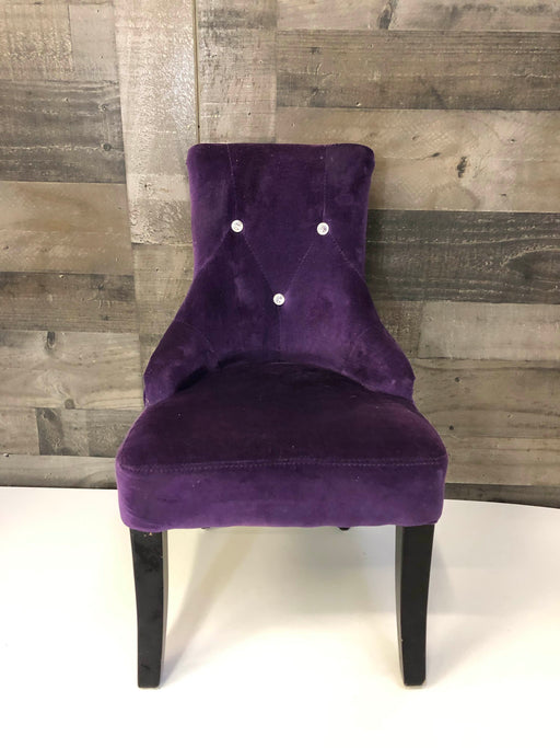 Hangzhou Wentong Crafts Purple Velvet Accent Child Chair