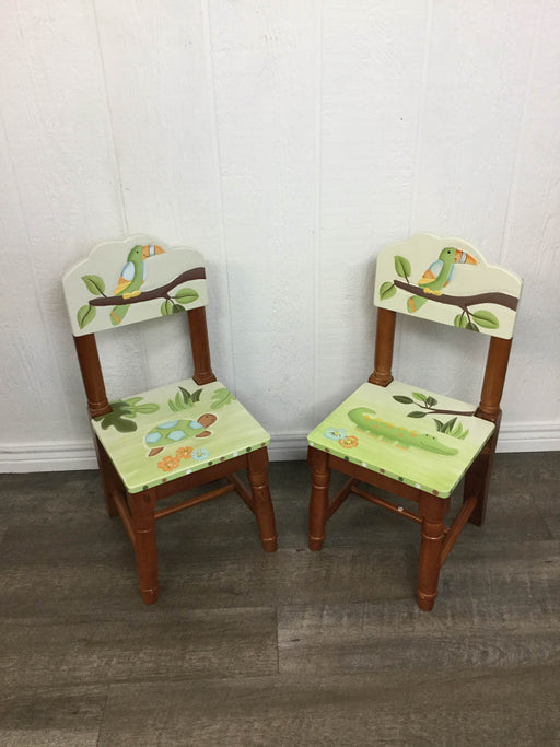 used Child's Wooden Chair - Set of 2