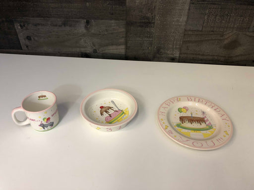 Child To Cherish Happy Birthday Ceramic Plate, Bowl, And Cup Set