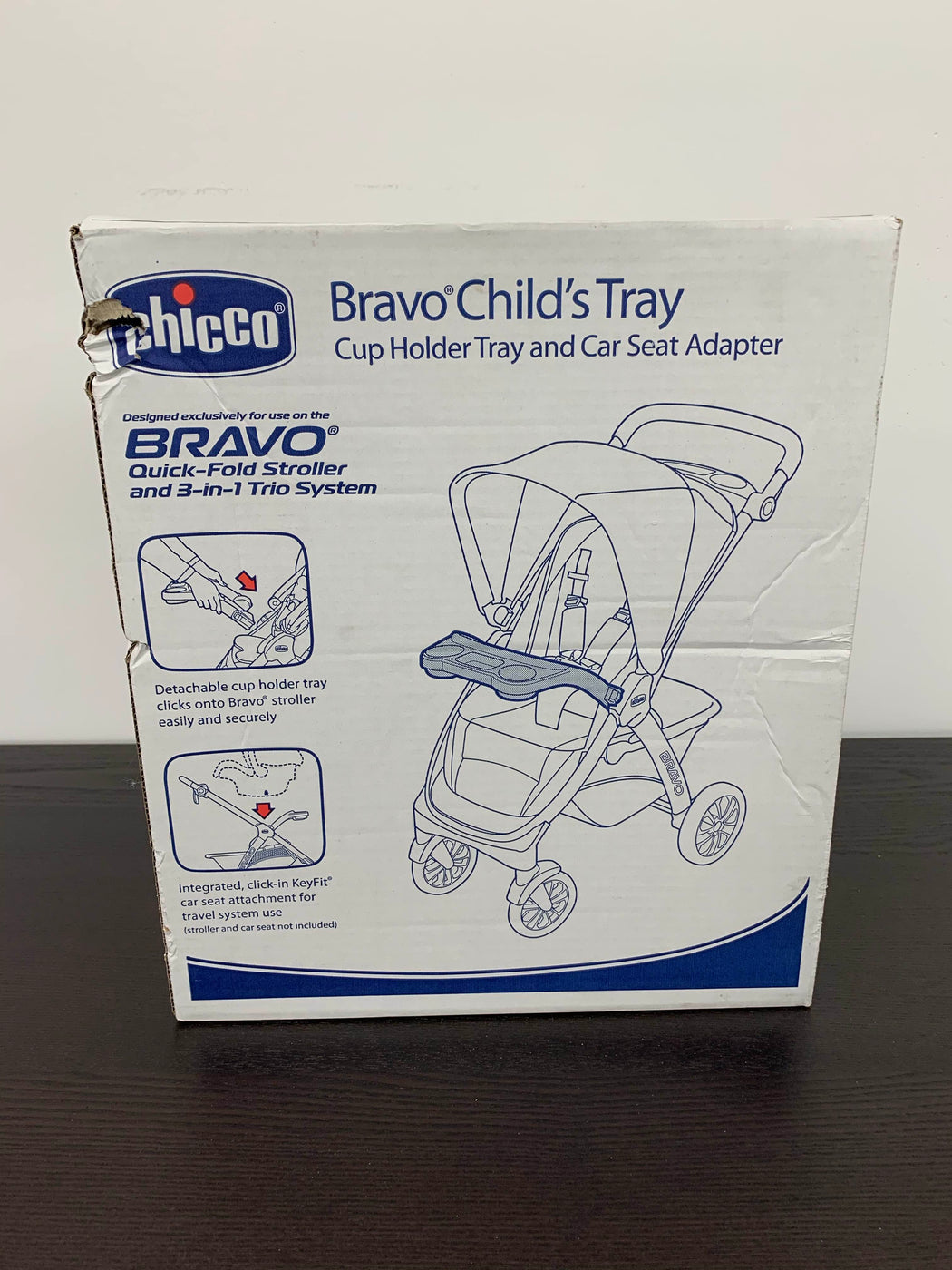 Chicco Bravo Stroller Childs Tray KeyFit Infant Car Seat Adapter