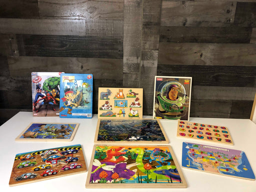 used BUNDLE Toddler-Preschool Puzzles
