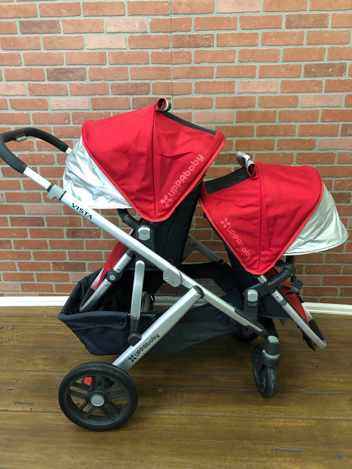 UPPAbaby VISTA Stroller With Rumble Seat, DENNY (Red), 2015
