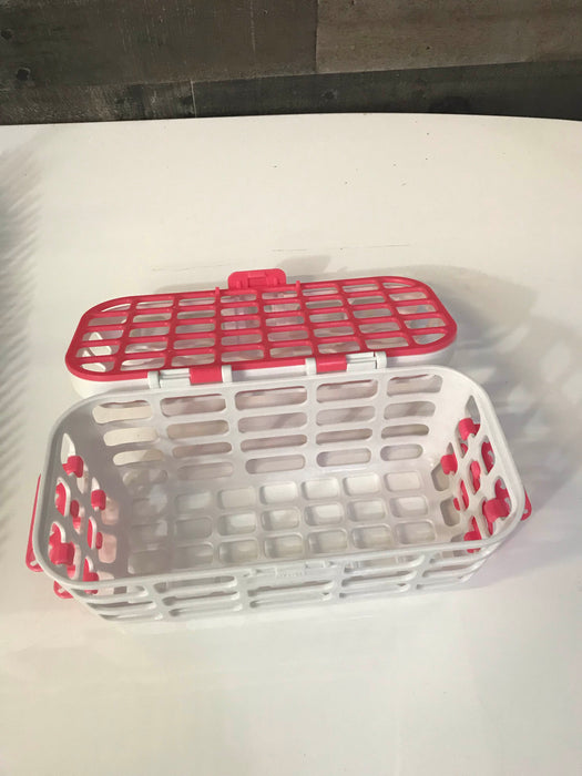 Boon Lawn Countertop Drying Rack with Twig Accessory And Munchkin Dishwasher Basket