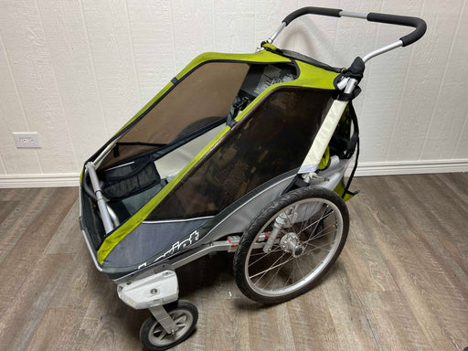 used Thule Chariot Cougar 2 Bike Trailer With Jogging Kit