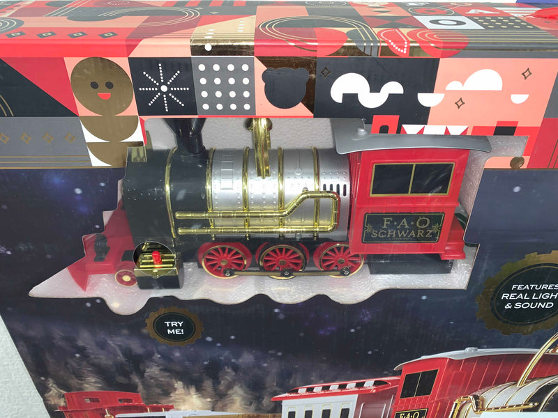 secondhand FAO Schwartz 75-Piece Motorized Train Set