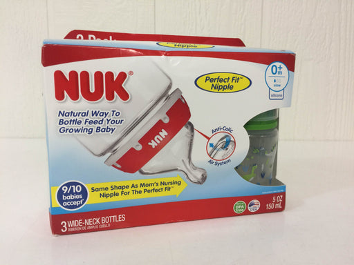 used Nuk Wide Neck Bottles With Perfect Fit Nipples