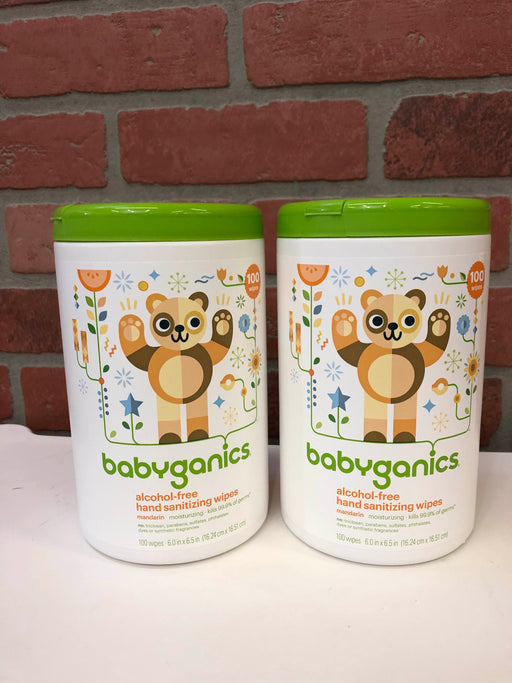BabyGanics Hand Sanitizing Wipes Pack Of 2