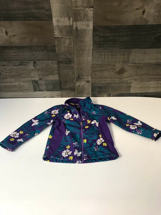 Mountain XPedition Purple Butterfly Floral Jacket, Size 6x