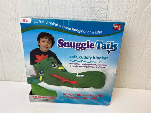 used Snuggie Tails Green Dragon Blanket