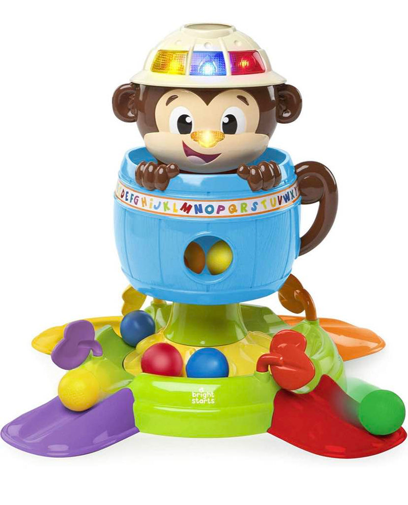 used Bright Starts Having A Ball Hide and Spin Monkey