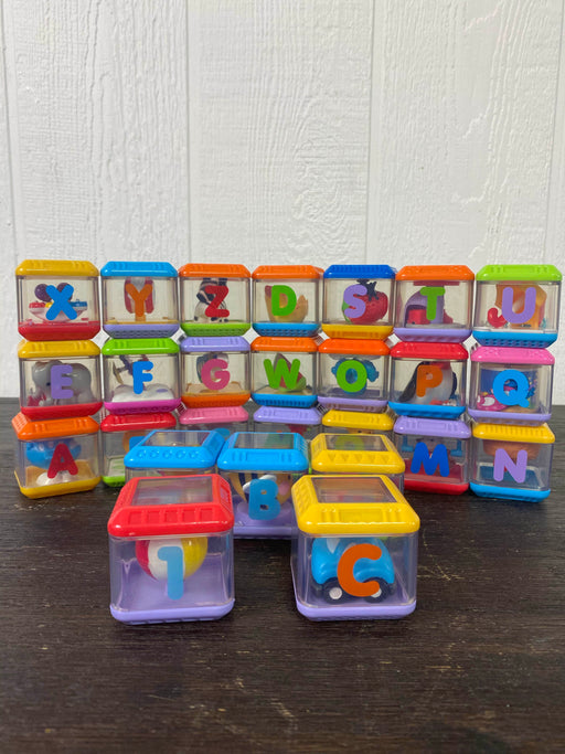 used Fisher Price Alphabet Peek A Blocks
