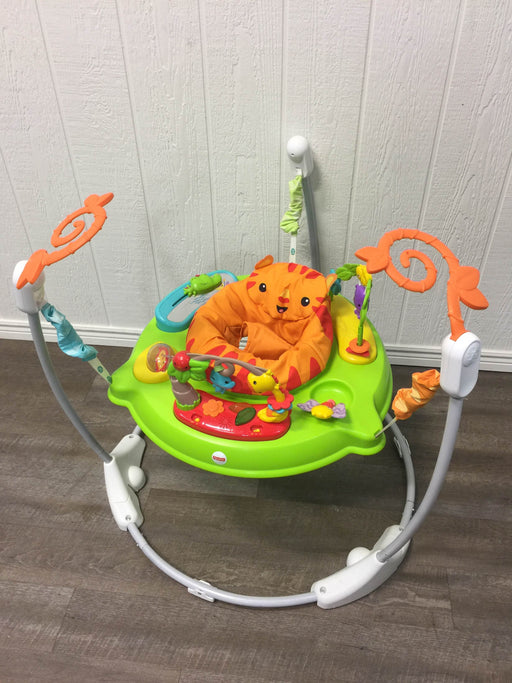 used Fisher Price Jumperoo Activity Center, Tiger Time with Lights, Music & Sounds