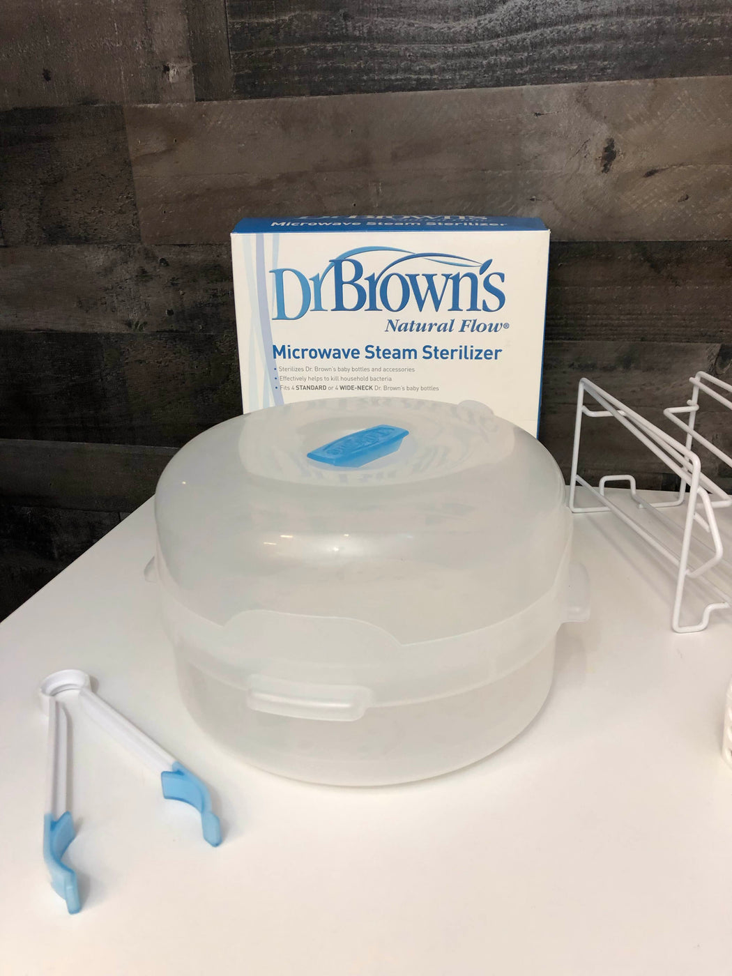 secondhand Dr. Brown's Bottles, Drying Racks And Sterilizer