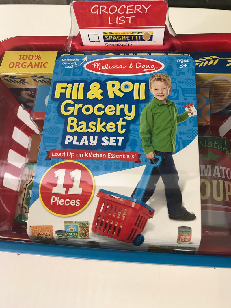 Melissa & Doug Fill And Roll Grocery Basket Set
