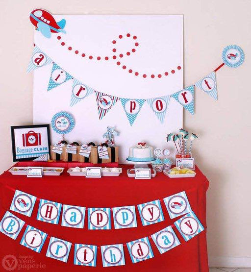 Vens Paperie Airplane Themed Party Decor