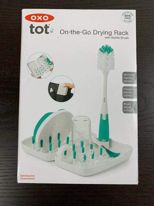 used OXO Tot On The Go Drying Rack With Bottle Brush