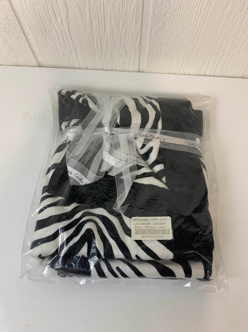 used Little Giraffe Luxe Zebra Baby Blanket