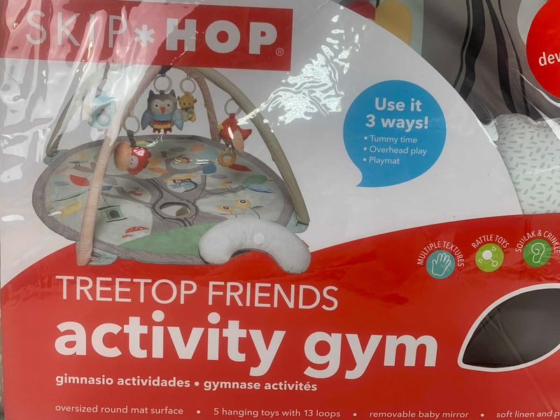 secondhand Skip Hop Activity Gym/ Playmat, Treetop Friends, Grey/Pastel