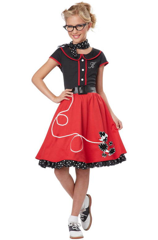 California Costumes 50's Sweetheart Costume Red/Black, X-Large