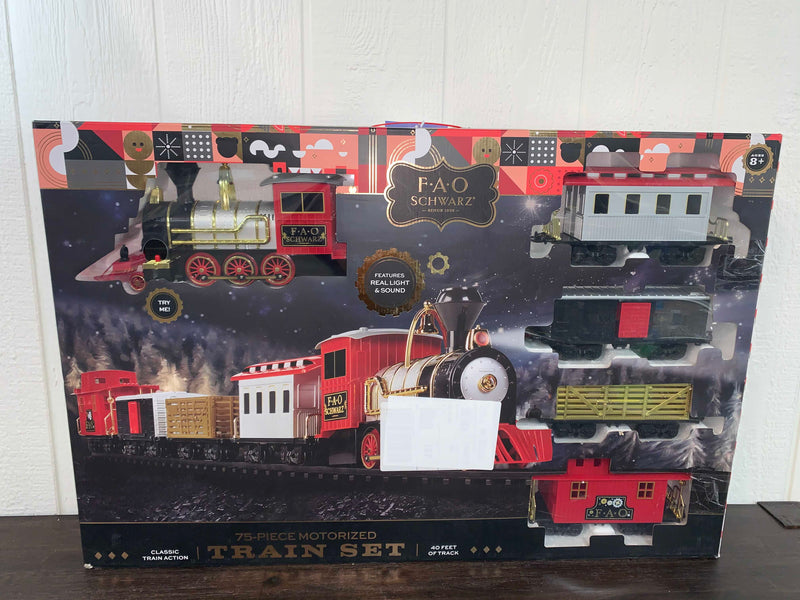 used FAO Schwartz 75-Piece Motorized Train Set
