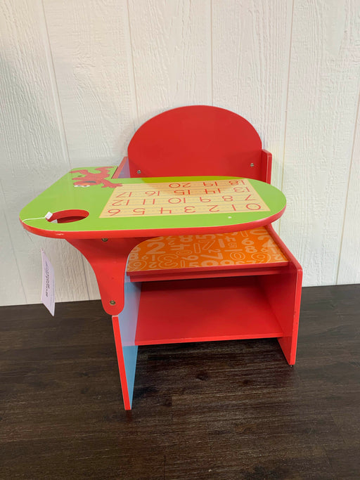 used Delta Children Sesame Street Chair Desk With Storage Bin