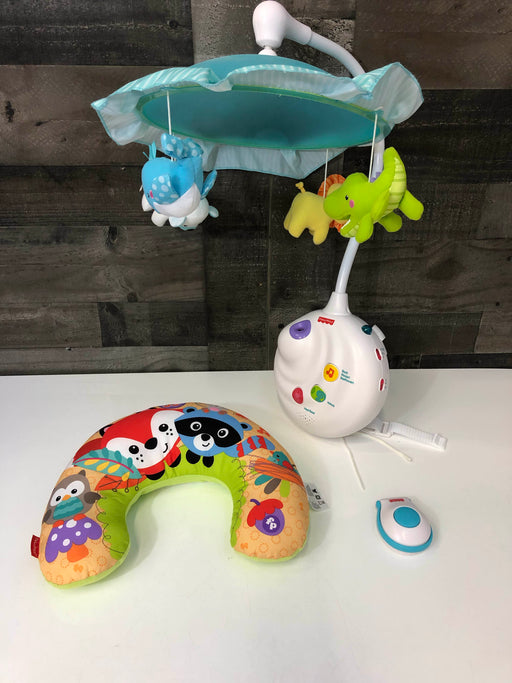 Fisher Price Precious Plant Projection Mobile And Tummy Time Pillow