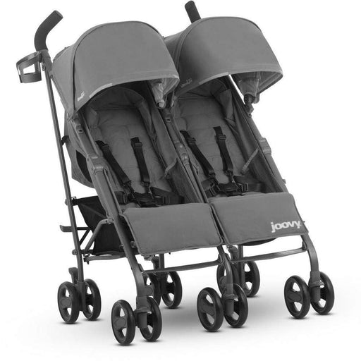 used Joovy TwinGroove Ultralight Double Stroller, 2018, Charcoal