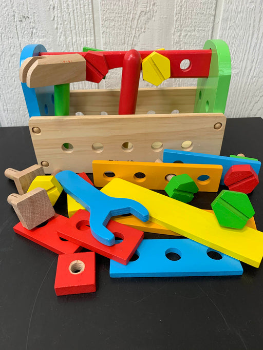 used Melissa & Doug Take-Along Tool Kit Wooden Toy