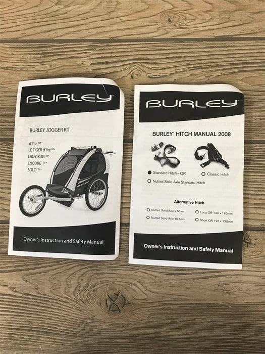 Burley D'lite Child Bike Trailer With Double Jogger Kit