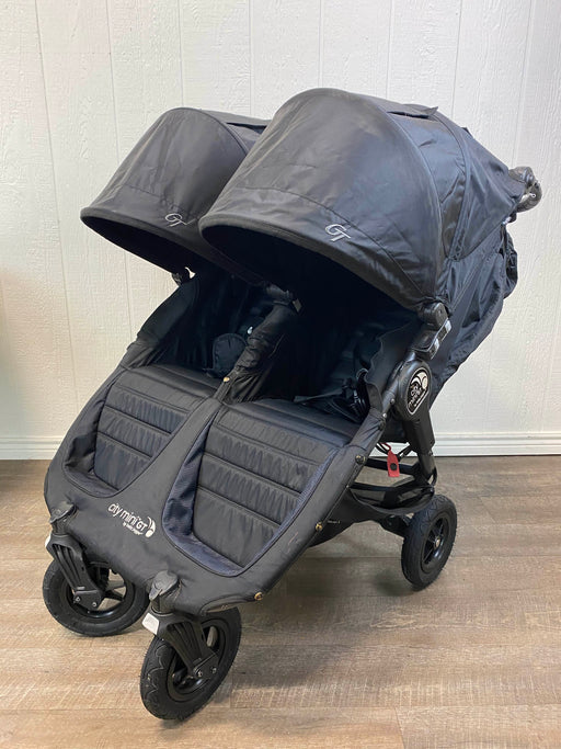 used Baby Jogger City Mini GT Double Stroller, Black, 2014